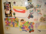 Our masterpieces on my fridge