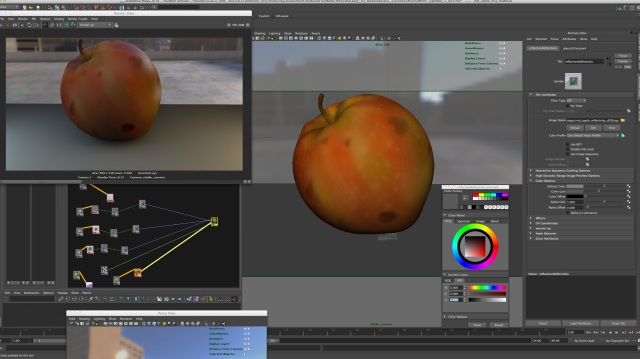 transferring the values from the reflectivity and glossiness to the alpha gain